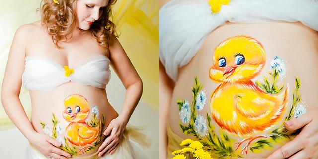 беременный боди-арт, что это такое