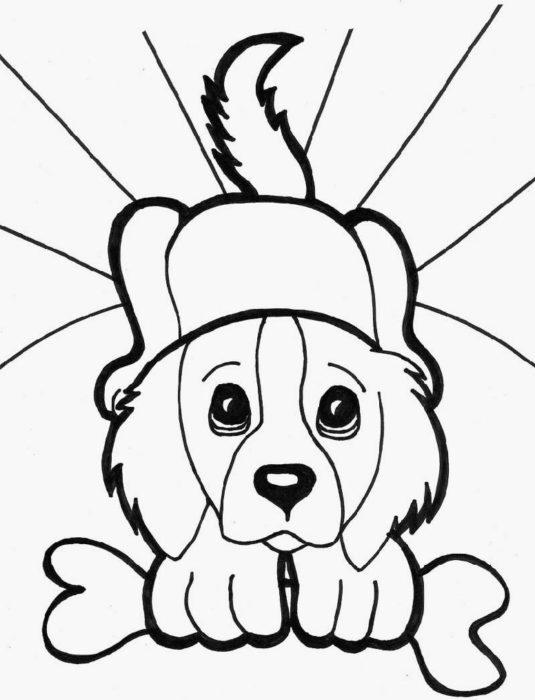 новогодние раскраски с символом 2018 года - Собакой 9