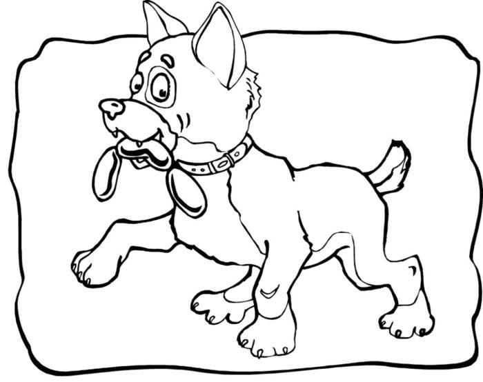 новогодние раскраски с символом 2018 года - Собакой 11