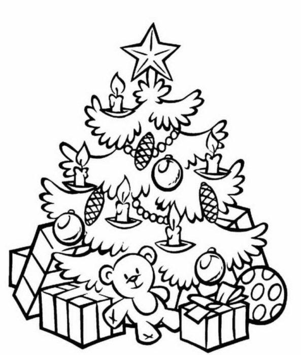 раскраски для детей на Новый год 2018 фото чтобы распечатать 12