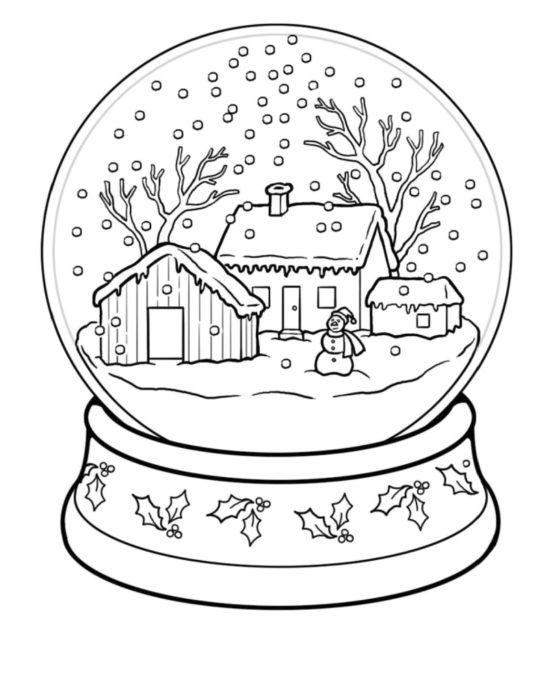 раскраски для детей на Новый год 2018 фото чтобы распечатать 17