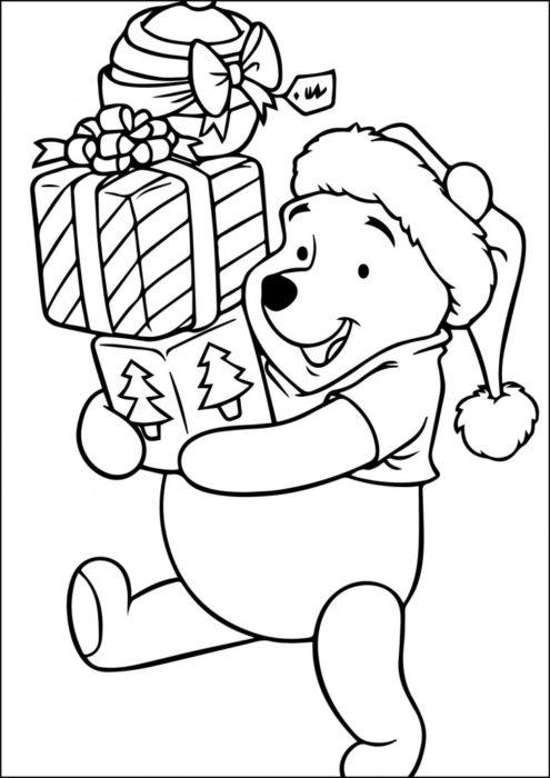 раскраски для детей на Новый год 2018 фото чтобы распечатать 20