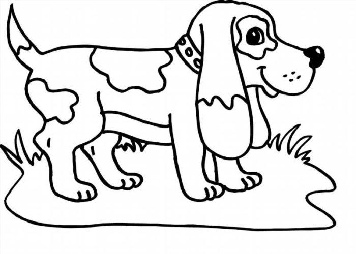 новогодние раскраски с символом 2018 года - Собакой 3