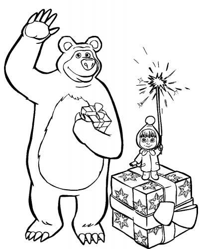 раскраски для детей на Новый год 2018 фото чтобы распечатать 25