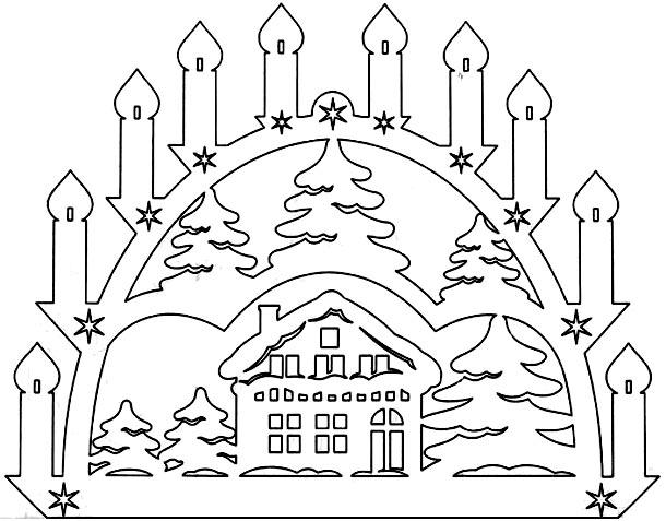 новогодние вытынанки 2018, схемы и шаблоны 16