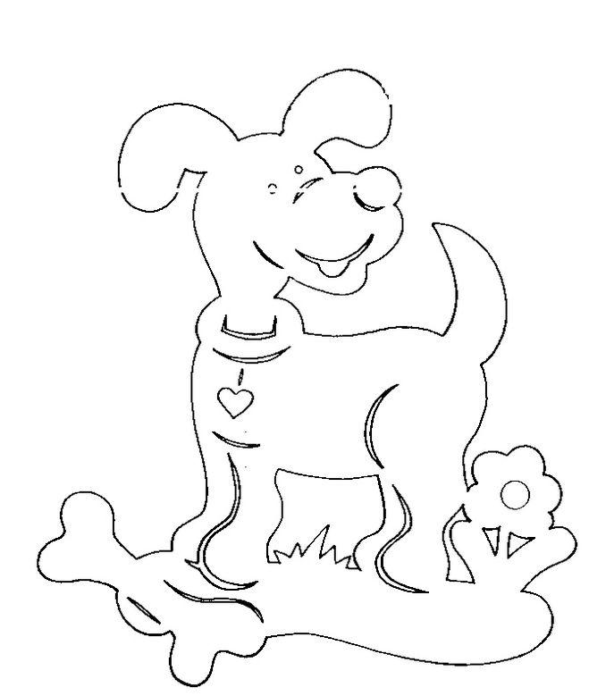 Год собаки вытынанка шаблон