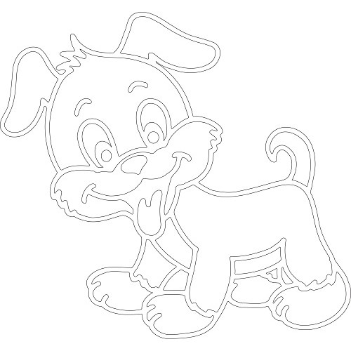 вытынанка Собака - символ года 2018 фото 3