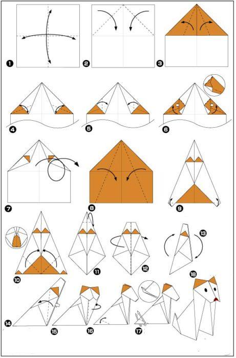схемы оригами из бумаги 2