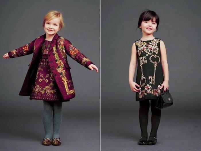 красивые и модные платья для девочек осень-зима 2017-2018, тенденции и тренды на фото 3