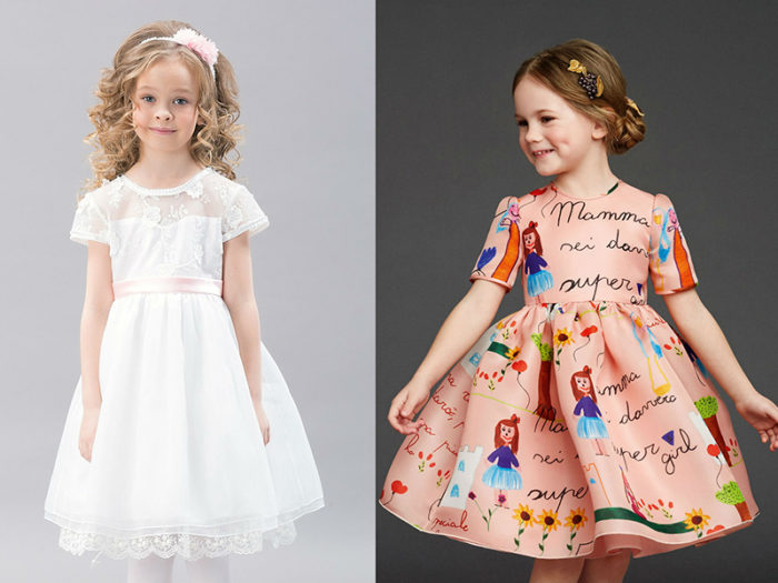 модные фасоны красивых платьев для девочек осень-зима 2017-2018, фото новинки 2