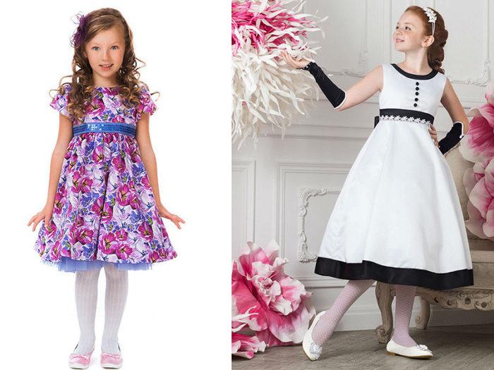 модные фасоны красивых платьев для девочек осень-зима 2017-2018, фото новинки 4