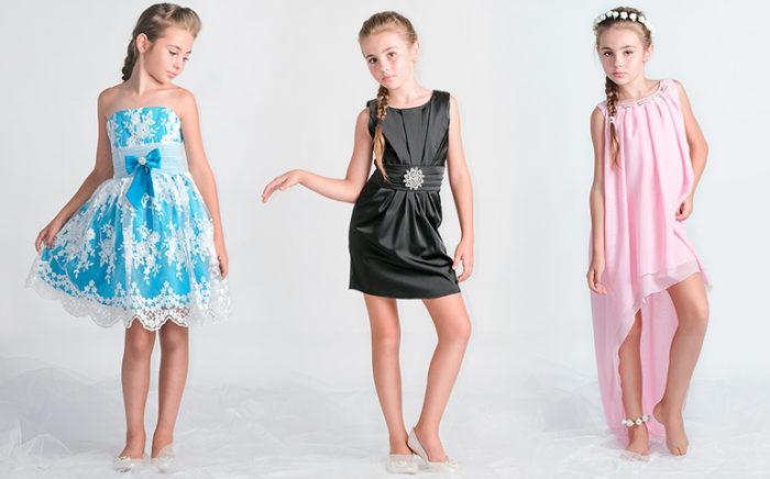 овинки на фото нарядных платьев для девочек осень-зима 2017-2018 2