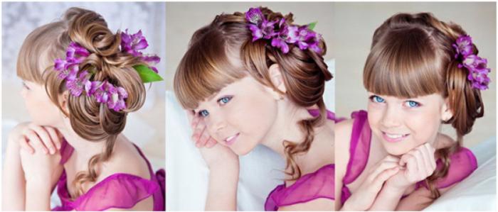фото идеи детских причесок на длинные волосы для девочек 2