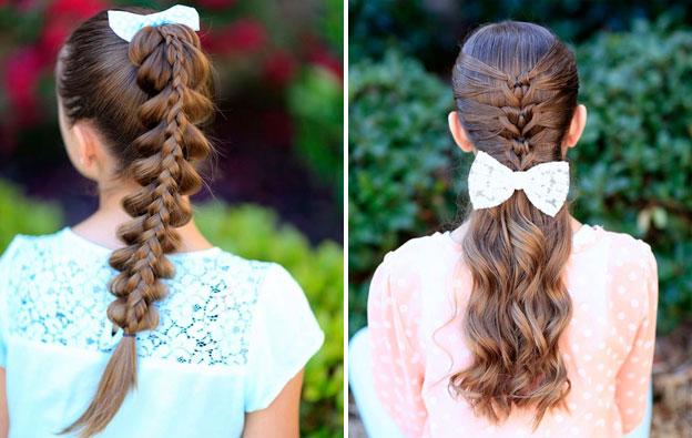 фото идеи детских причесок на длинные волосы для девочек 3