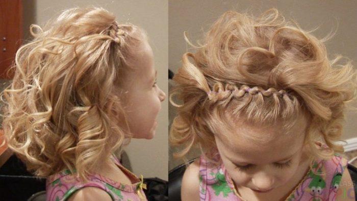 фото идеи детских причесок на среднюю длину волос для девочек 1