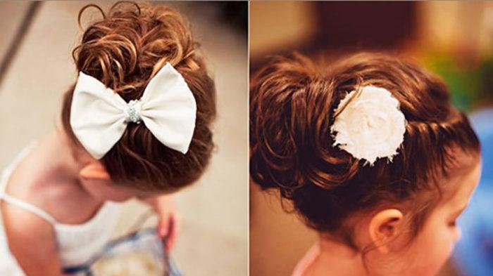 фото идеи детских причесок на среднюю длину волос для девочек 2