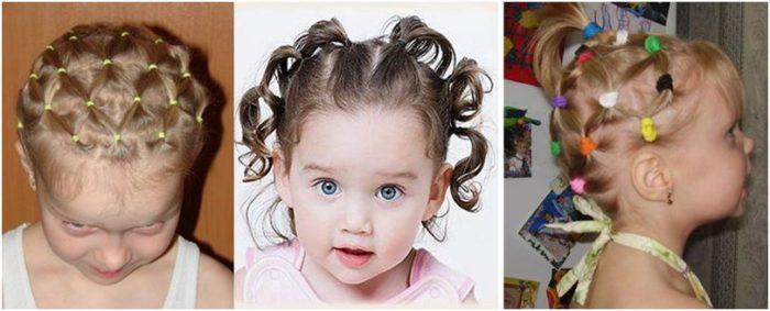 фото идеи детских причесок на короткую длину волос для девочек