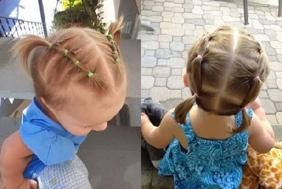фото идеи детских причесок на короткую длину волос для девочек 2
