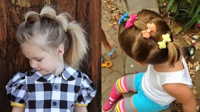 фото идеи детских причесок на короткую длину волос для девочек 3