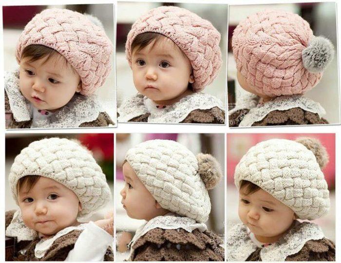 модные детские шапки для девочек, фото 3