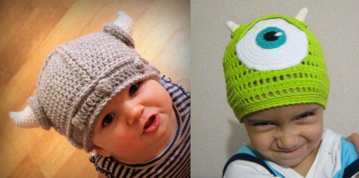 вязаные шапки фото 2