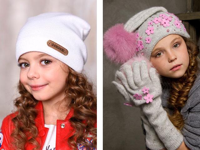 детские шапки осень-зима 2017-2018, модные тенденции и тренды, красивые фото 3