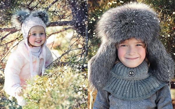 детские шапки осень-зима 2017-2018, модные тенденции и тренды, красивые фото 4