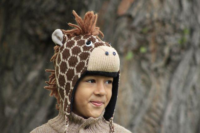 детские шапки в форме животных 3
