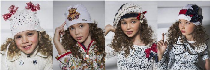 модные детские шапки для девочек, фото 1