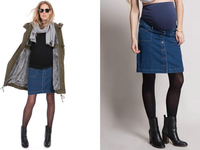 модные юбки для беременных осень-зима 2017-2018, цветовая гамма и принты на фото 3