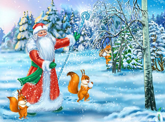 Дед Мороз и снегурочка 4