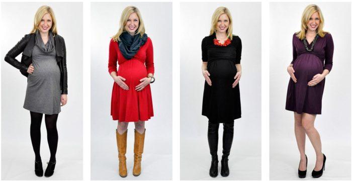 красивые и модные платья для беременных осень-зима 2017-2018: тенденции и тренды на фото 3