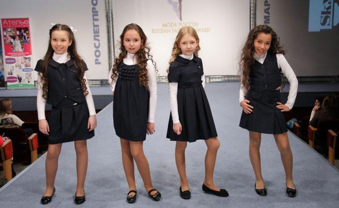 модная школьная форма для девочек 2017-2018 на фото 5