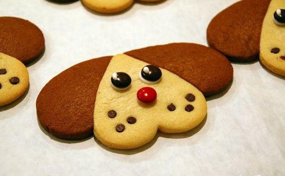 печенья в форме собачей мордочки