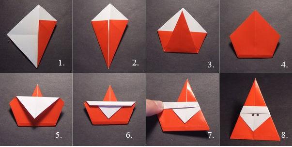 елочные игрушки в технике оригами, мастер-класс на фото 1