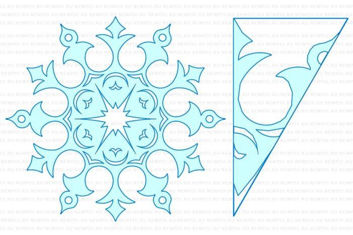 снежинки из бумаги на Новый год 2018, 20 новогодних идей 4