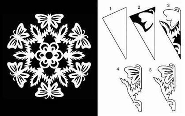 снежинки из бумаги на Новый год 2018, 20 новогодних идей 6
