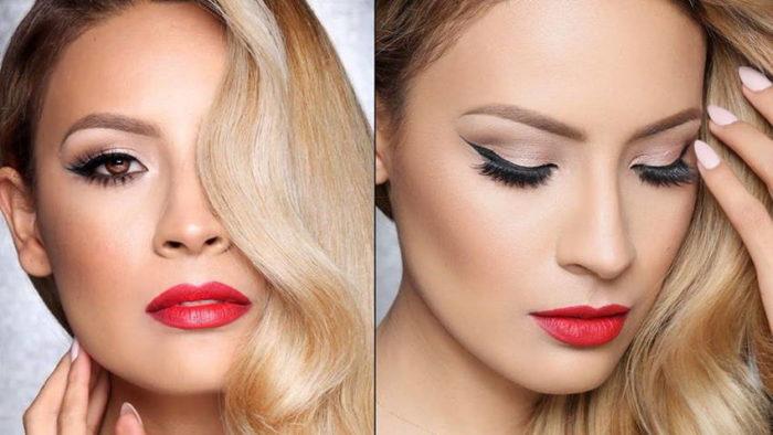 макияж на Новый год для блондинок 3