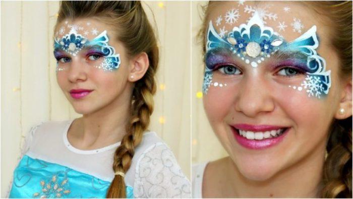 новогодний макияж для девочек 1