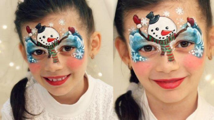 новогодний макияж для девочек 2