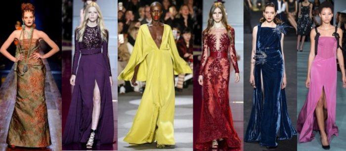 модные тенденции, тренды и новинки новогодних платьев 2018 года 1