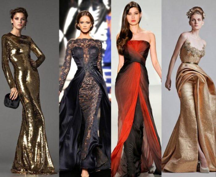 модные и красивые платья на Новый год 2018, новогодние идеи на фото 1