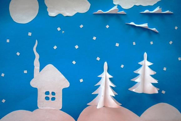 аппликация «Зима» 1