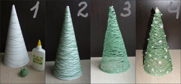 елка из бумаги 3