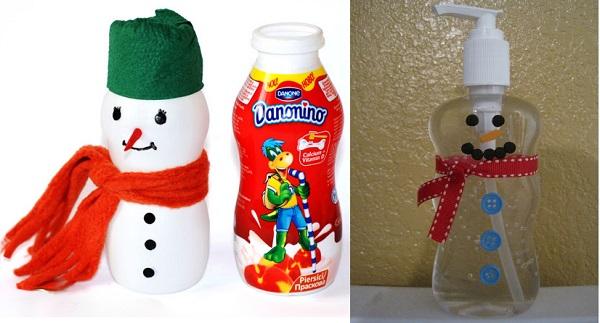 снеговик из бутылки 1