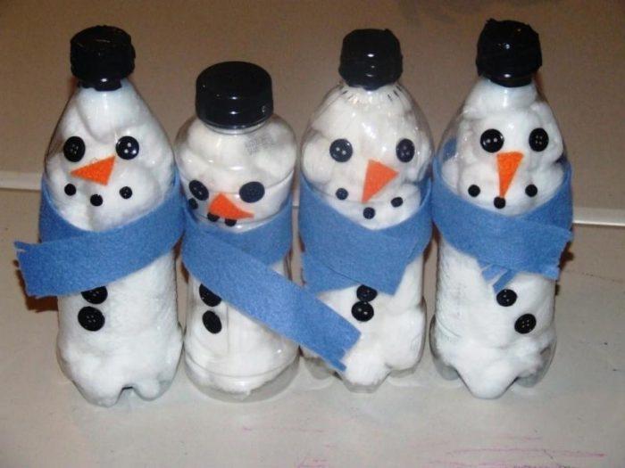 снеговик из бутылки 2